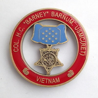 Click to see more information on the Barnum Challenge Coin
