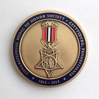 Click to see more information on the Gettysburg Challenge Coin