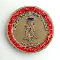 Click to see more information on the Parrott Challenge Coin
