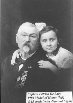 Captain Patrick DeLacy and his granddaughter, Elizabeth Hicks Jacquinot - Aunt Betty